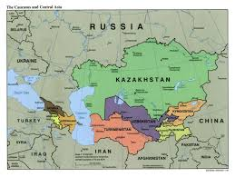 Asia Map Countries Large Political Map Of The Caucasus And Central Asia With Capitals