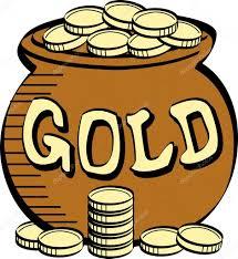 stack of coins near a pot of leprechauns gold u2014 stock vector