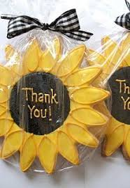 sunflower wedding favors from the bottom of my heart thank you all for