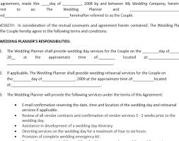 wedding amazing wedding planner contract 7 best images of