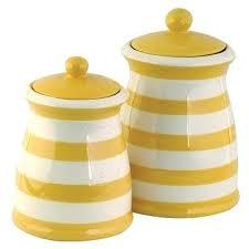 yellow kitchen canisters yellow kitchen canisters sets yellow white striped ceramic kitchen