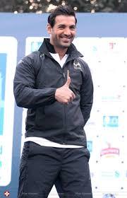John Abraham John Abraham Mumbai Marathon 2014 Stills