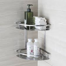 Shower Accessories Blh 821 Double Tier Brushed Nickel Stainless Steel Wall Bathroom