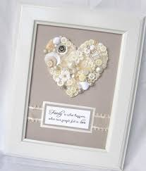 wedding gift craft ideas button heart great gift for a wedding or a new home available