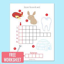picture crossword puzzles kindergarten and grade 1 worksheets