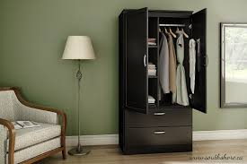 Wardrobe amazon com south shore acapella wardrobe pure black kitchen