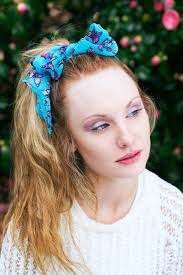 chiffon hairstyle blue butterfly hair scarf chiffon hair scarf vintage head scarf