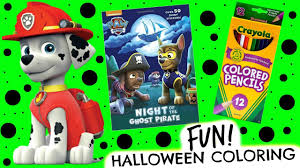 paw patrol coloring book halloween coloring pages paw patrol