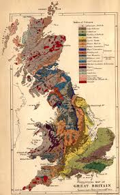 Map Of British Isles Geological Map Of Great Britain Created In 1878 By Edward