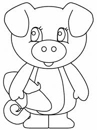 pig coloring animals town animals color sheet pig free