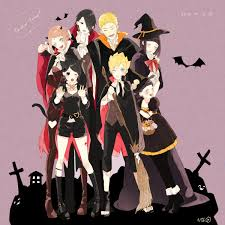 anime halloween gif naruto uchiha sarada uchiha sasuke uzumaki himawari uzumaki