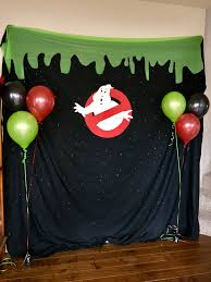 halloween bday party background ghostbuster birthday party photo booth i bought some printable