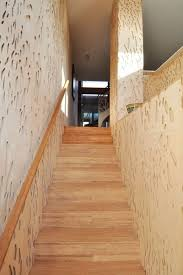 Staircase Wall Design by Decoration Creative White Ceramic Tile Flooring And White Wooden