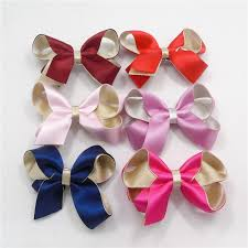 satin ribbon bows top quality satin ribbon bow barrette birthday hair clip baby