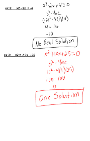 Factoring X2 Bx C Worksheet Discriminant Recall The Quadratic Formula X U003d B B2 4ac 2a