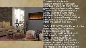 touchstone sideline recessed mounted electric fireplaces 50
