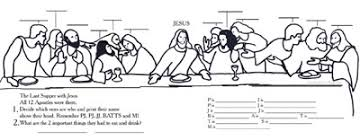 Sunday School Kids The Last Supper We Remember In Communion Last Supper Coloring Page