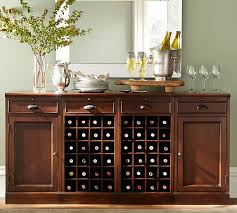 oak console buffet table with wine rack romancebiz home for bar