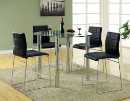 furniture rounded tempered glass dining table with chromed metal