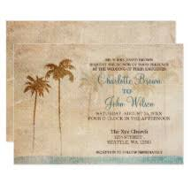 palm tree wedding invitations palm tree wedding invitations announcements zazzle