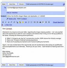 email cover letter send resume through email exle