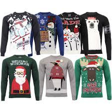 3d sweater mens jumper knitted 3d novelty santa penguin
