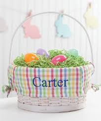 personalized easter basket liners personalized planet personalized easter basket with plaid liner