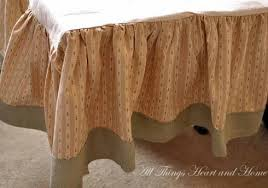 Burlap Bed Skirt Burlap Projects All Things Heart And Home