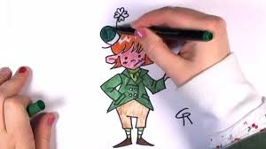 how to color a leprechaun st patrick u0027s day drawing lesson