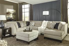 sectional sofas with ottoman signature design by ashley beckendorf chalk sectional sofa ottoman