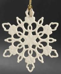 lenox twelve days of set 12 snowflake ornaments lot