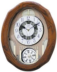 rhythm clocks joyful musical wall clock 4mh897wu06