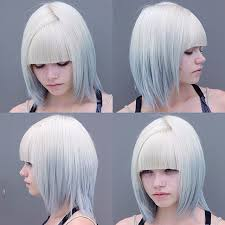 pictures of ombre hair on bob length haur bob hair from platinum to mint ombre hair colors ideas