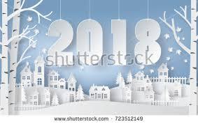 happy new year winter season snow stock vector 723512149