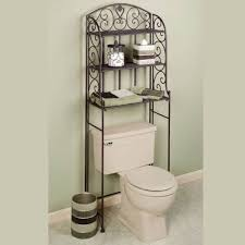 Storage For Small Bathrooms by Bathroom Dark Themed Bathroom Storage Over Toilet And Pedestal
