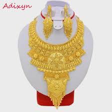 big fashion necklace images New africa fashion jewelry set big necklace earrings gold color jpg