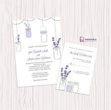 jar wedding invitations lavender and jar wedding invitation free printable wedding