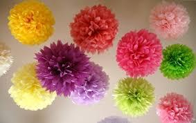Excepcional 10 Balão Pompom Bola Flores Papel Seda Festas Decoração 25cm - R  @PD45
