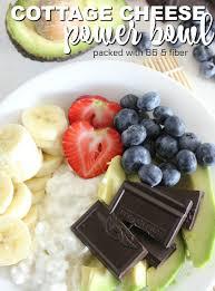 cheese power bowl with chocolate avocado and banana
