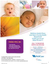 baby shower website wellcare baby shower glynn county coastal health