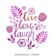 live love laugh watercolor lettering illustration live love laugh stock illustration