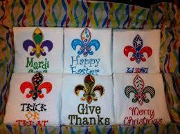 Fleur De Lis Gifts Teacher Gift Idea Fleur De Lis Dish Towels For Each Holiday