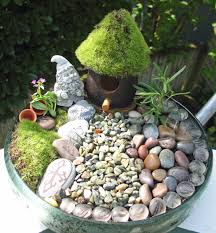 this was my first fairy garden really simple i used most of the