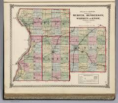 Map Of Counties In Illinois by Atlas Of Illinois Counties Of Mercer Henderson Warren And Knox