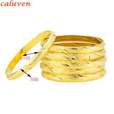 gold bangle bracelet design images New design 8mm eropean middle east bangles bracelets gold color jpg
