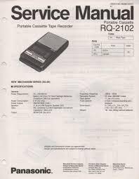 panasonic rq 2102 cassette tape recorder service manual