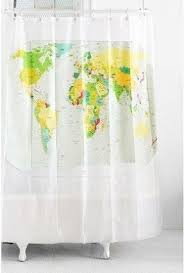 Shower Curtain Map Lovely World Map Curtains And Best World Map Shower Curtain