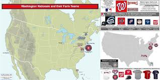 Map Of Mlb Teams Baseball Clubs And Their Minor League Affiliates The Washington