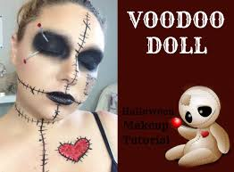 voodoo doll halloween makeup tutorial youtube