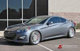 silver hyundai genesis coupe 19 inch mrr gt 1 silver on 2015 hyundai genesis coupe w